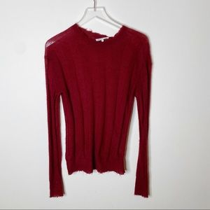 Helmut Lang Red Stitch Stripe Pullover Sweater S